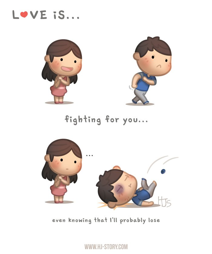 love is fighting for you hj story